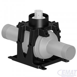 Base soporte para válvulas de bola serie 85/50