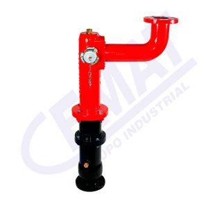 Hidrante con-toma-de-monitor-toma-recta
